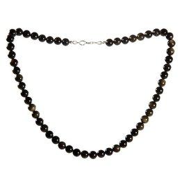 Obsidiaan (goud) ketting 8 mm kralen