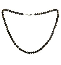 Obsidiaan (goud) ketting 6 mm kralen