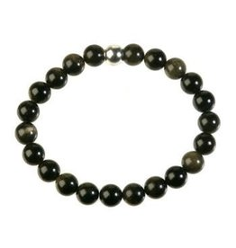 Obsidiaan (goud) armband 18 cm | 8 mm kralen