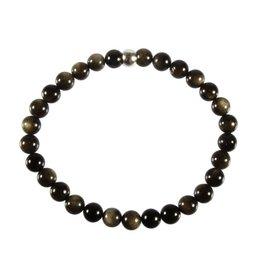 Obsidiaan (goud) armband 18 cm | 6 mm kralen