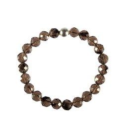 Obsidiaan (apachetranen) armband facet 20 cm | 8 mm kralen