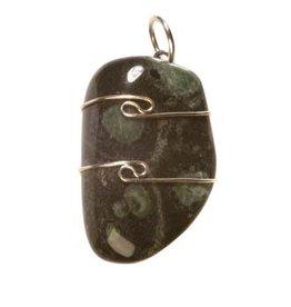 Nebula stone (nevelsteen) hanger in zilverdraad