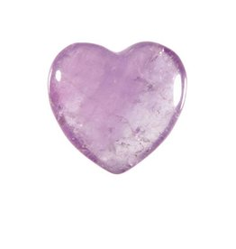 Amethist (licht) edelsteen hart 3 cm
