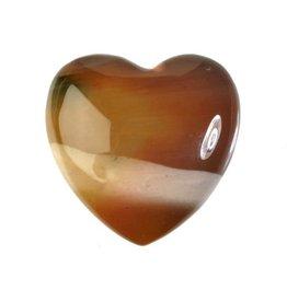 Mookaiet edelsteen hart 3 cm