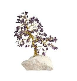 Amethist edelsteen boompje groot