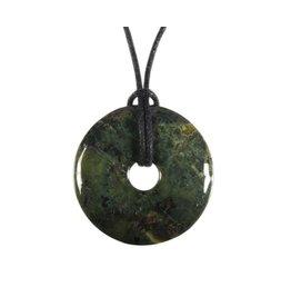 Magnetiet in serpentijn hanger donut 3 cm