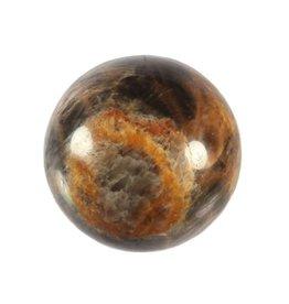 Maansteen (zwart) met apatiet edelsteen bol 75 mm