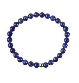 Lapis lazuli armband 18 cm | 6 mm kralen