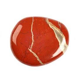 Jaspis (rood) steen plat gepolijst