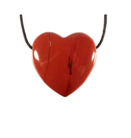Jaspis (rood) hanger hart doorboord