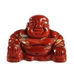 Jaspis (rood) boeddha 4 cm
