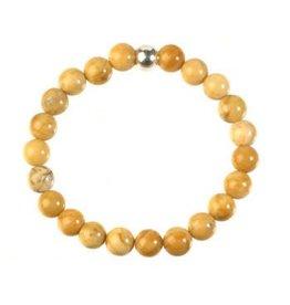 Jaspis (geel) armband 20 cm | 8 mm kralen