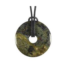 Jaspis (drakenbloed) hanger donut 3 cm