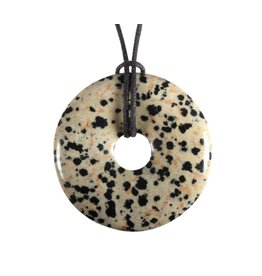 Jaspis (dalmatiër) hanger donut 4 cm
