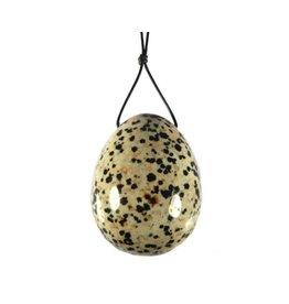 Jaspis (dalmatier) edelsteen ei doorboord (yoni ei)