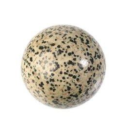 Jaspis (dalmatier) edelsteen bol 60 mm / 310 gram