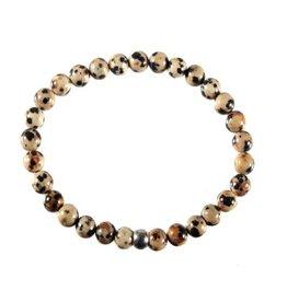 Jaspis (dalmatier) armband 18 cm | 6 mm kralen