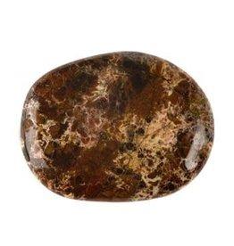 Jaspis (breccie) steen plat gepolijst