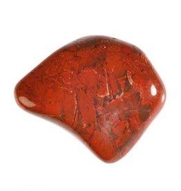 Jaspis (breccie) steen getrommeld 10 - 15 gram