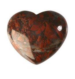 Jaspis (breccie) edelsteen hart 4 cm