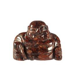 Jaspis (breccie) boeddha 4 cm