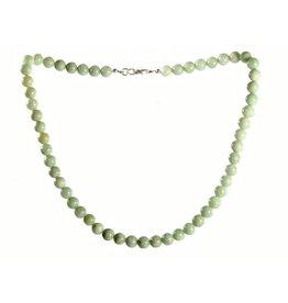 Jade (jadeiet) ketting 8 mm kralen effen groen