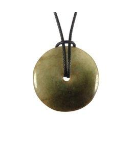 Jade (jadeiet) hanger donut 2,8 - 3,2 cm