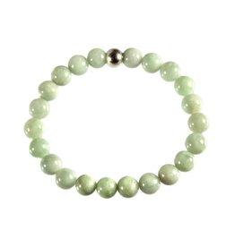 Jade (jadeiet) effen groen armband 18 cm | 8 mm kralen