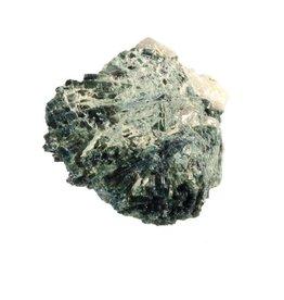 Indigoliet (blauwe toermalijn) in kwarts ruw 8 x 6 x 3,5 cm / 214 gram