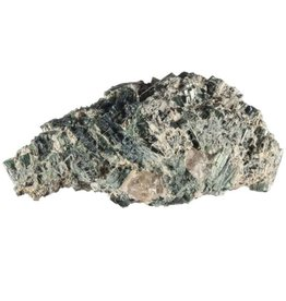 Indigoliet (blauwe toermalijn) in kwarts kristal 11,8 x 6 x 3,4 cm / 244 gram
