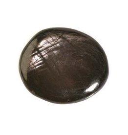 Hyperstheen steen plat gepolijst