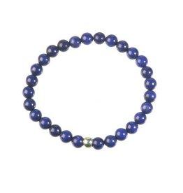 Howliet (blauw) armband 18 cm | 6 mm kralen