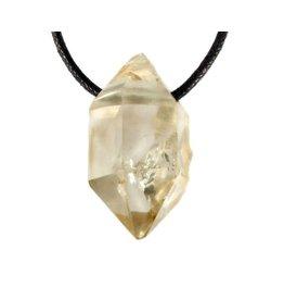 Herkimer diamant (citrien) hanger doorboord
