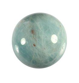 Aquamarijn (blauw) edelsteen bol A-kwaliteit 38,2 mm