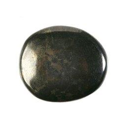 Healer's gold steen plat gepolijst