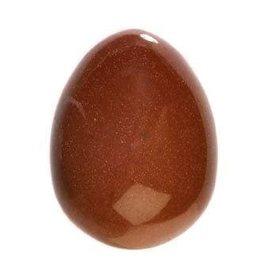 Goudsteen (rood) edelsteen ei 4,5 x 3,5 cm