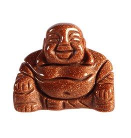 Goudsteen (rood) boeddha 4 cm
