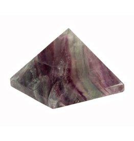 Fluoriet (multi) edelsteen piramide