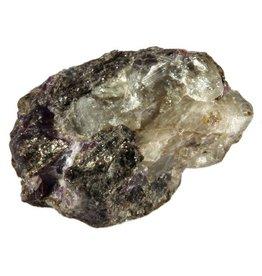 Fenakiet met flogopiet en paarse fluoriet 4,4 x 3 x 3 cm / 44,14 gram