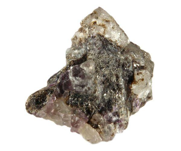 Fenakiet met flogopiet en paarse fluoriet 3,5 x 3,3 x 3,3 cm / 29,14 gram