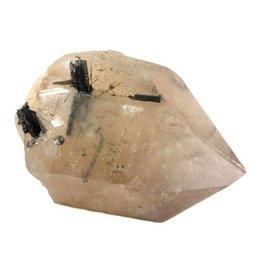 Citrien met toermalijn (groen) kristal 21 x 17 x 10 cm / 4,14 kg
