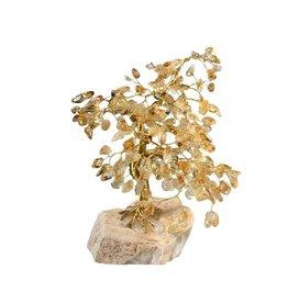 Citrien (verhit) edelsteen boompje groot