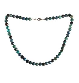 Chrysocolla ketting 8 mm kralen