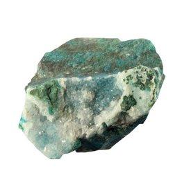 Chrysocolla (drusy) ruw 3,6 x 3,5 x 2,3 cm / 29,56 gram