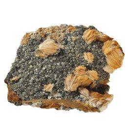 Cerussiet met bariet cluster 15,5 x 12,5 x 4,6 cm / 1167 gram