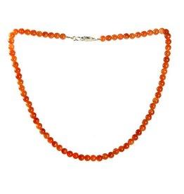 Calciet (oranje) ketting 6 mm kralen