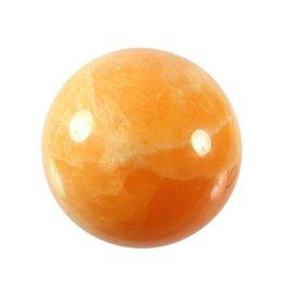 Calciet (oranje) edelsteen bol 65 mm