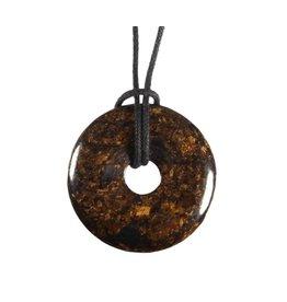 Bronziet hanger donut 3 cm