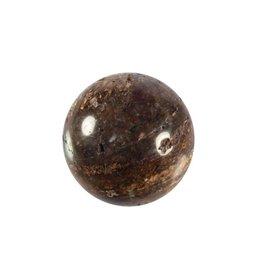 Bronziet edelsteen bol B-kwaliteit 40 mm