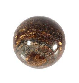 Bronziet edelsteen bol 50 mm